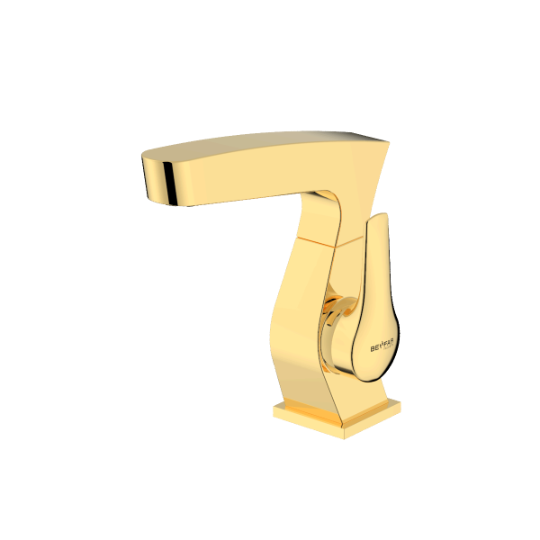 Arsham shiny gold single lever basin mixer