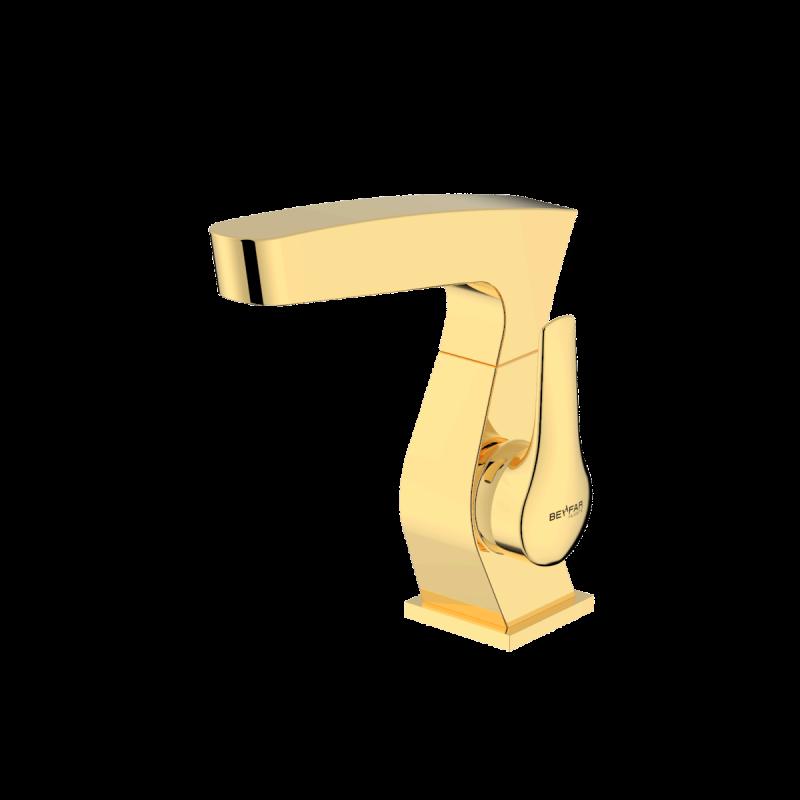 Arsham shiny gold single lever basin mixer