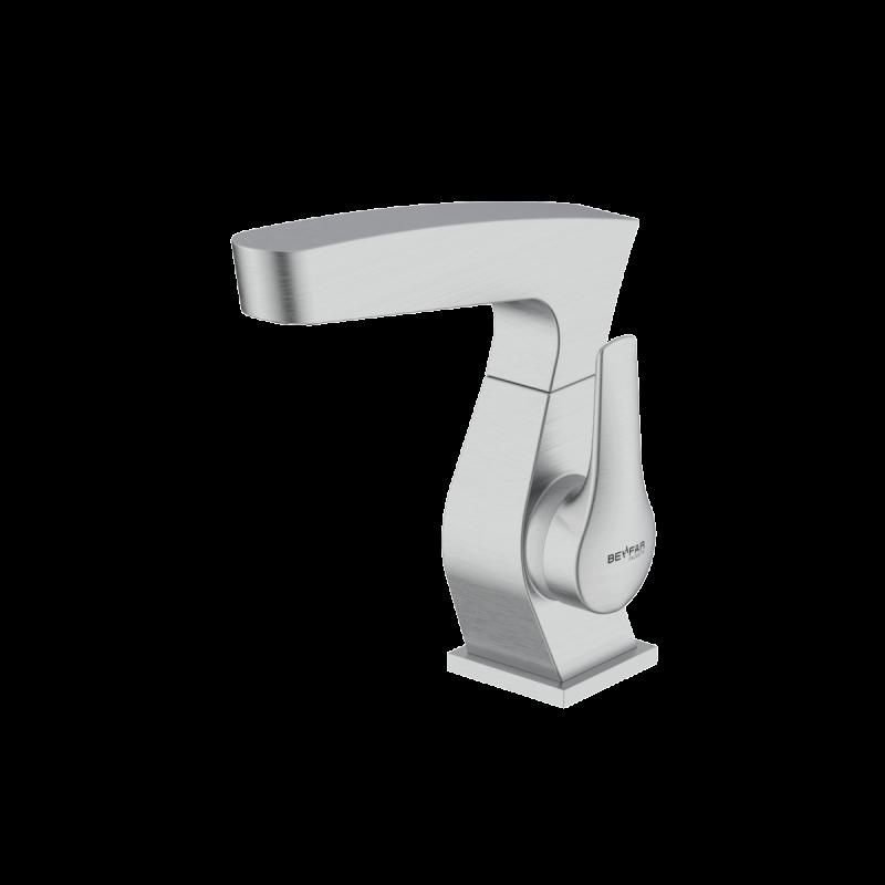 Arsham Brushed chrome single lever basin mixer