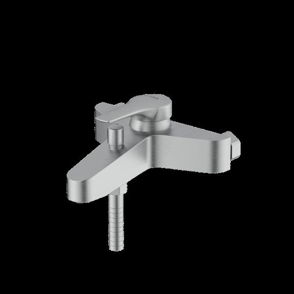 Arsham Brushed chrome single lever bath mixer