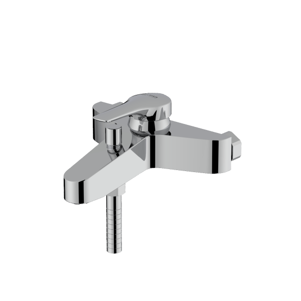 Arsham shiny chrome single lever bath mixer