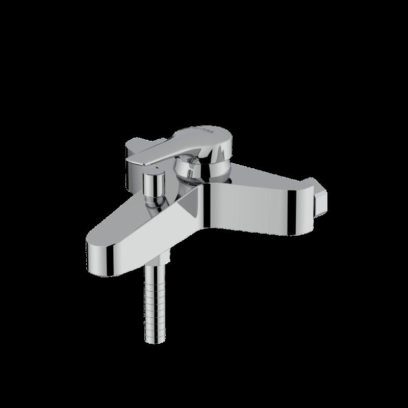 Arsham shiny chrome single lever bath mixer
