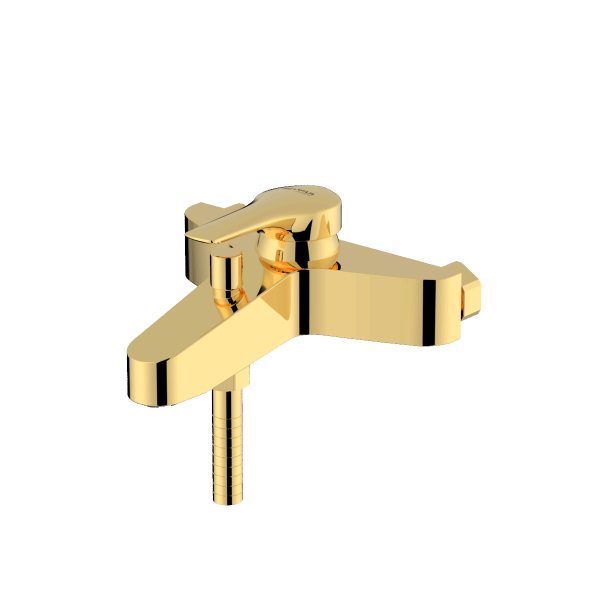Arsham shiny gold single lever bath mixer