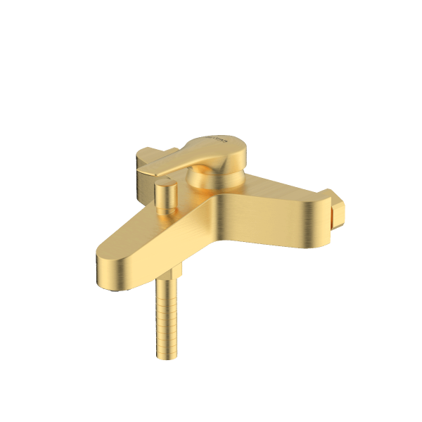 Arsham Brushed gold single lever bath mixer