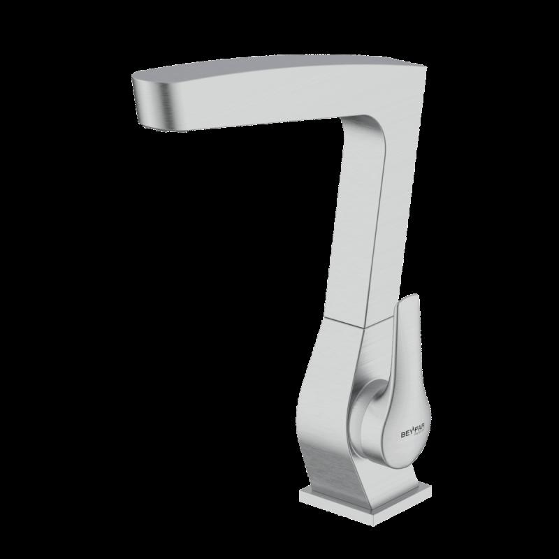 Arsham Brushed chrome single lever kitchen mixer
