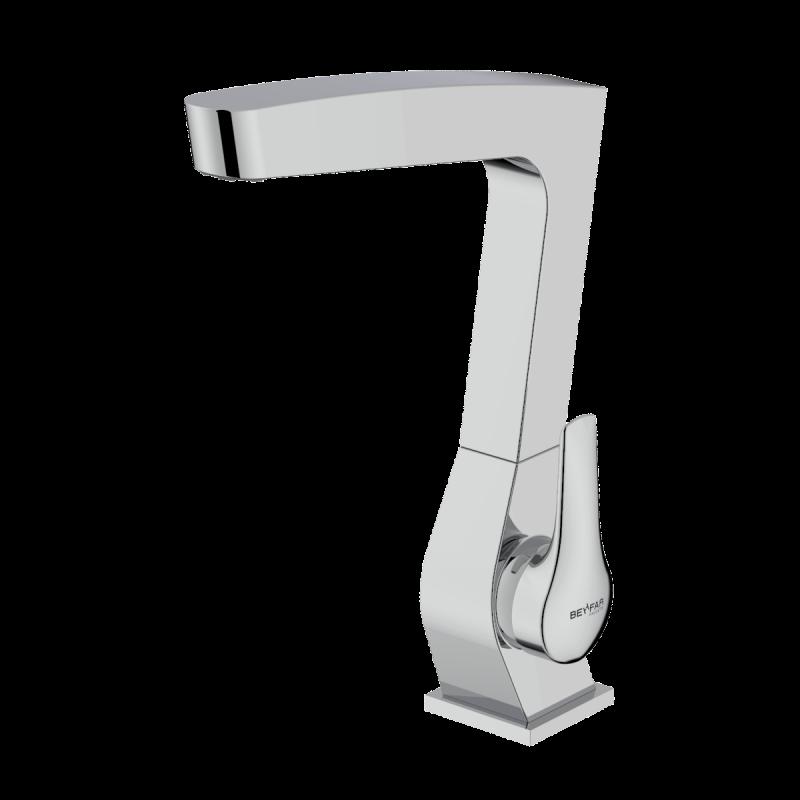 Arsham shiny chrome single lever kitchen mixer