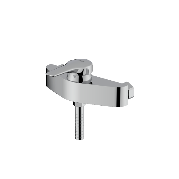 Arsham shiny chrome single lever toilet mixer