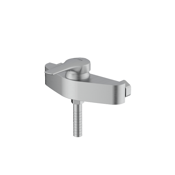 Arsham Brushed chrome single lever toilet mixer