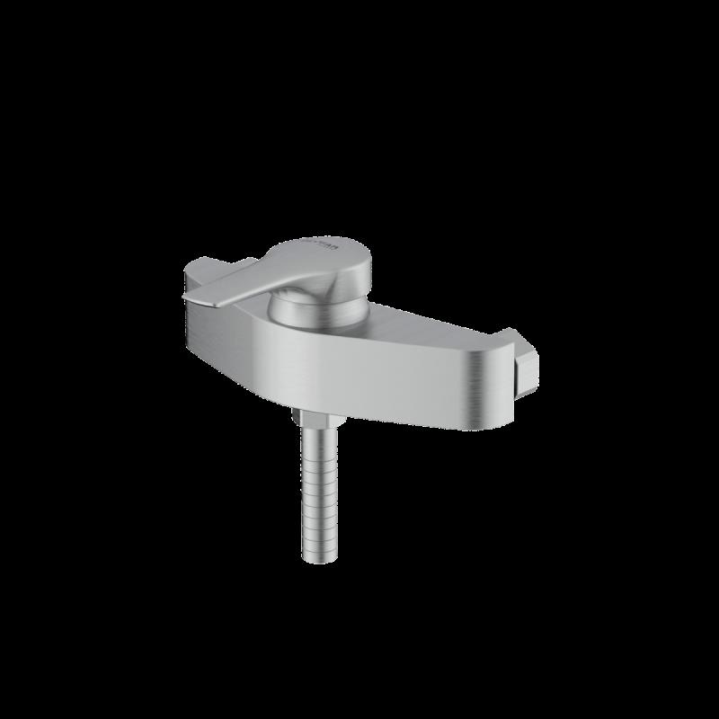 Arsham Brushed chrome single lever toilet mixer
