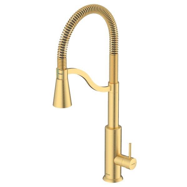 Atra Brushed Gold Single Lever Kitchen Mixer