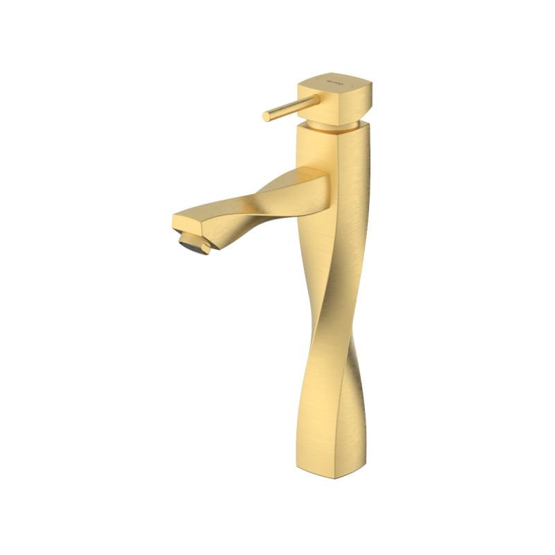 Gisoom Brushed Gold Single Lever Basin Mixer