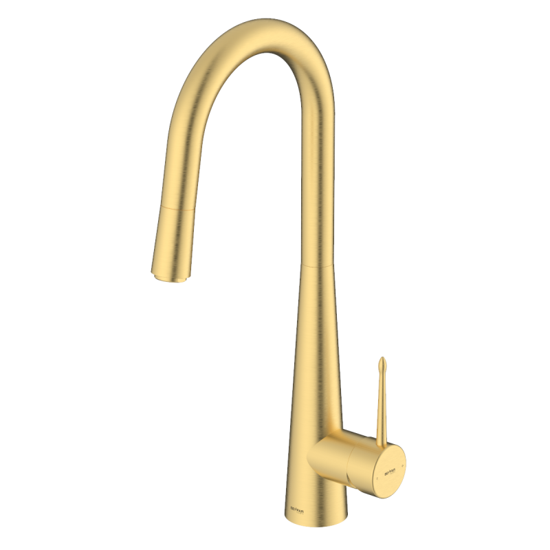 Pyramid Matte Gold Single Lever Kitchen Mixer