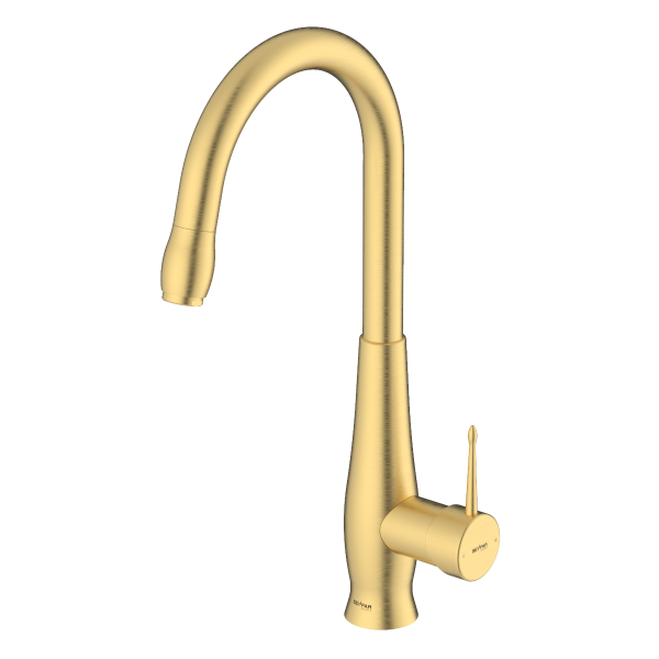 Artemis Brushed Gold Single Lever Kitchen Mixer