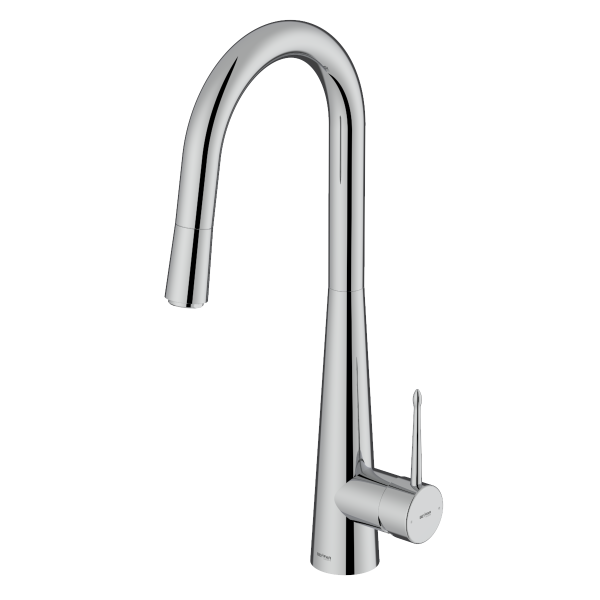 Pyramid Shiny Chrome Single Lever Kitchen Mixer