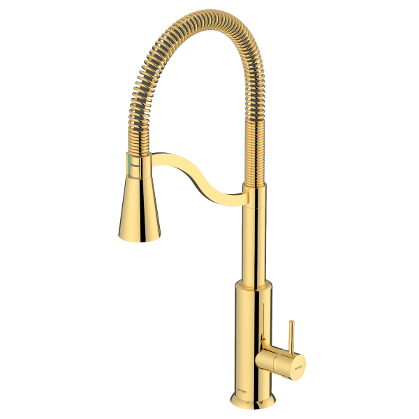 Atra Shiny Gold Single Lever Kitchen Mixer
