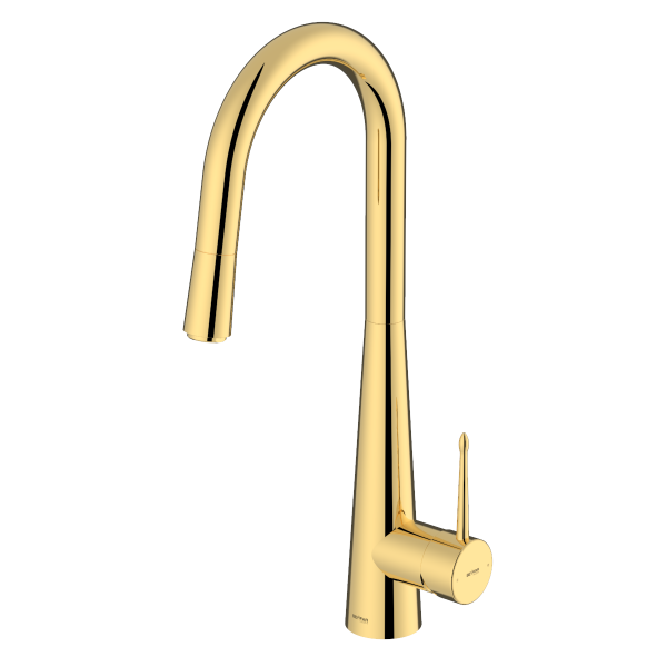 Pyramid Shiny Gold Single Lever Kitchen Mixer