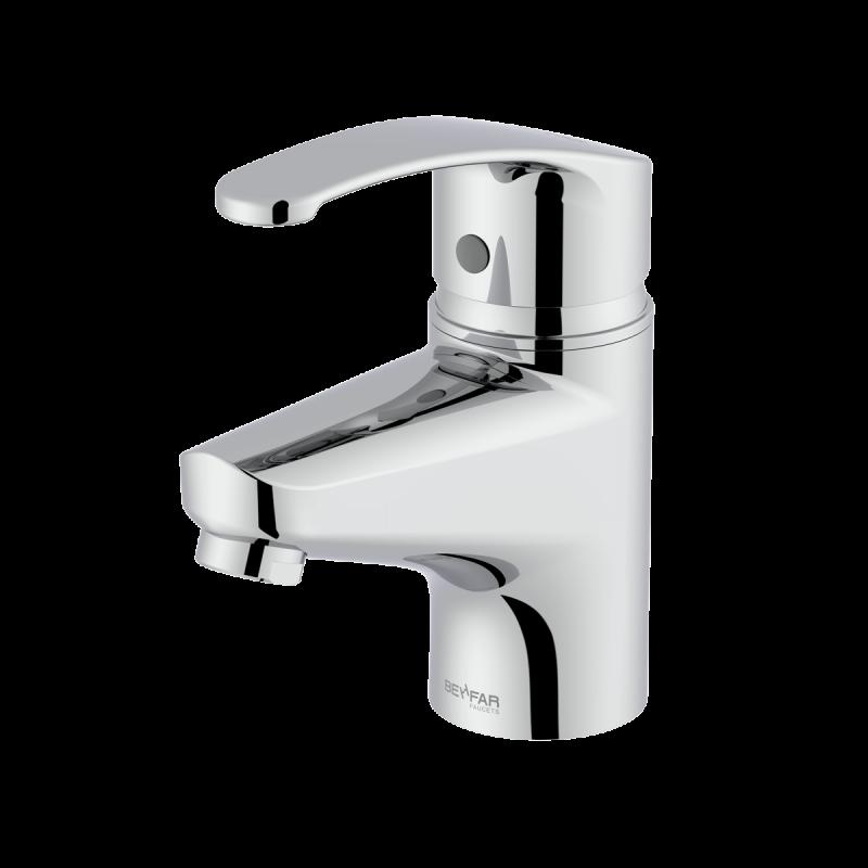 Arman shiny chrome single lever basin mixer