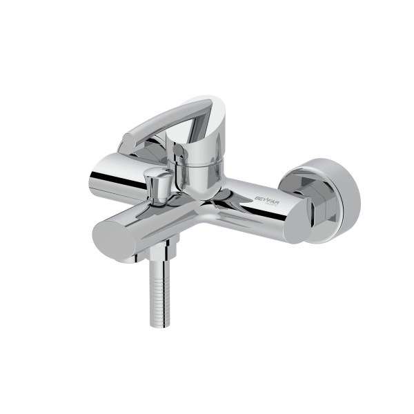 Macan shiny chrome single lever bath mixer