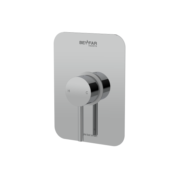 behfar shiny chrome toilet concealed with ibox plate a