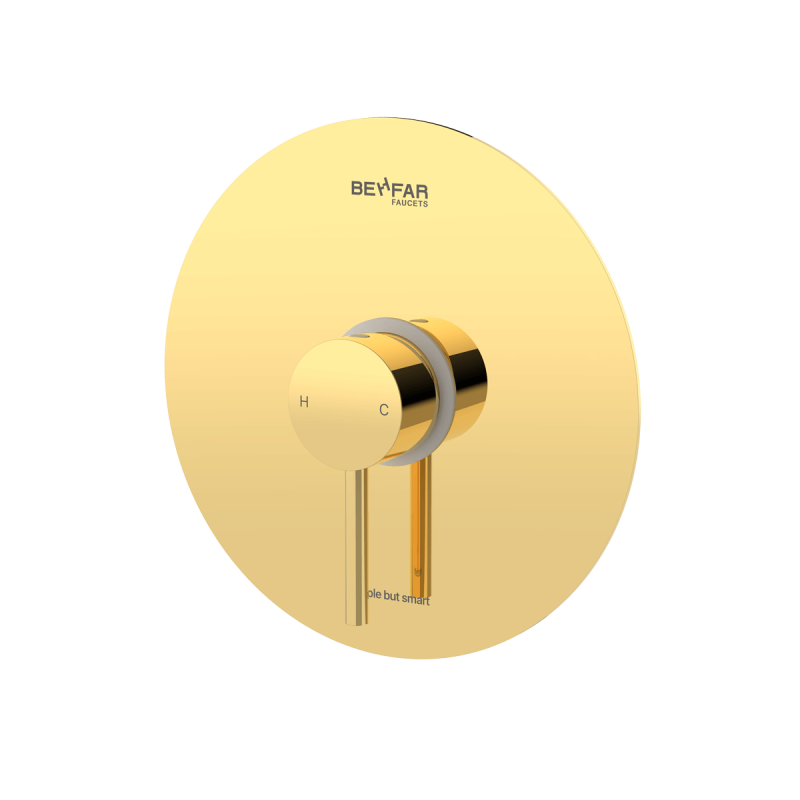 behfar shiny gold toilet concealed with ibox plate c