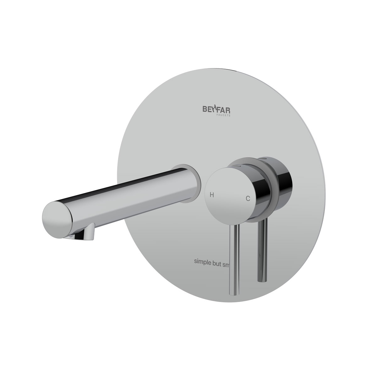 Behfar Shiny Chrome Basin Concealed With Ibox Plate C